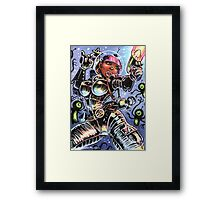 SPACE BABE VS SHADOW ALIENS Framed Print