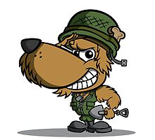 Cartoon Soldier Dog Character by CoghillCartoon