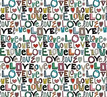 l o v e LOVE white by Sharon Turner