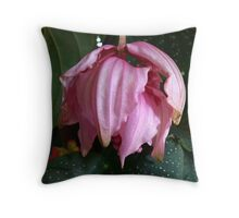 Pink Orchid - Martinique, FWI Throw Pillow