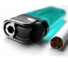 Cigarette & Lighter Photographic Print