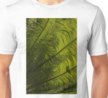 Tropical Green Curves and Diagonals - a Vertical View Unisex T-Shirt