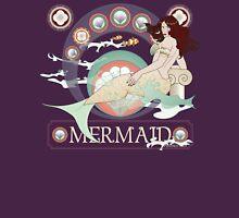 Mermaid art nouveau Womens Fitted T-Shirt