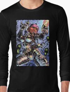 SPACE BABE VS SHADOW ALIENS Long Sleeve T-Shirt