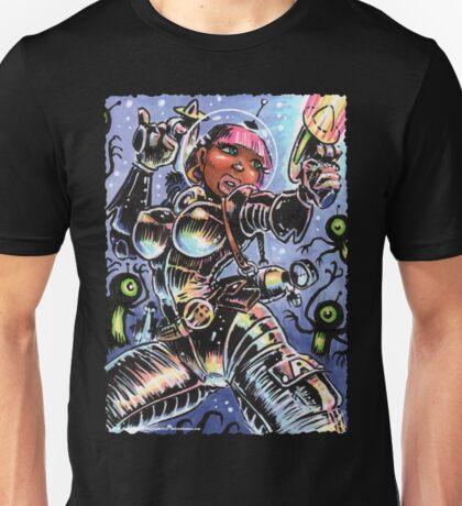 SPACE BABE VS SHADOW ALIENS Unisex T-Shirt