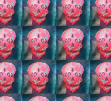 Paint Peel Skull  by PoetJenHarris