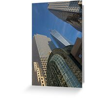Manhattan Geometry - a Vertical View Greeting Card