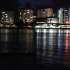 Tweed Heads at night by Graham Mewburn