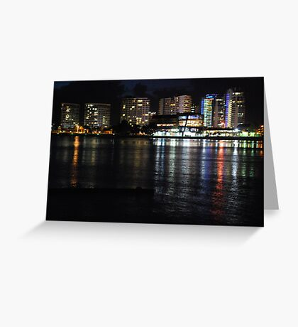 Tweed Heads at night Greeting Card