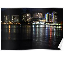 Tweed Heads at night Poster