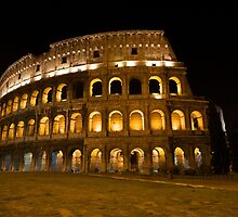 Roman Colosseum at Night by mateo