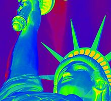 Lady Liberty in the Moonlight by GeometryOfColor