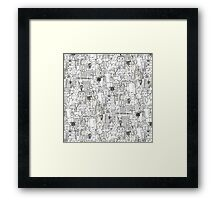 kitchen town ivory Framed Print