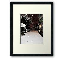 Pure Snowfall Framed Print
