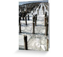 Hudson River Pier Greeting Card