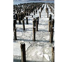 Hudson River Pier Photographic Print