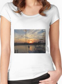 Sunset in Georgetown, SC Women's Fitted Scoop T-Shirt