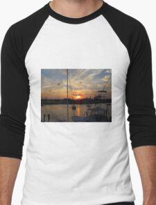 Sunset in Georgetown, SC Men's Baseball ¾ T-Shirt