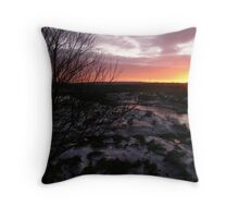 Snow covered Moyasta, Co. Clare. Throw Pillow