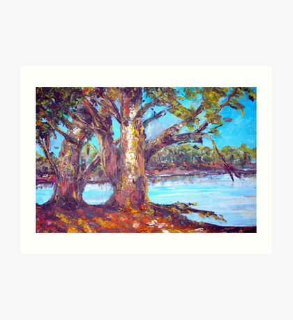 australian bush abstract landscape Art Print