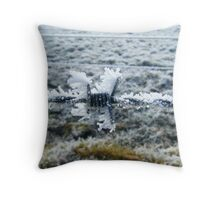 Barbed wire - dressed up! Throw Pillow