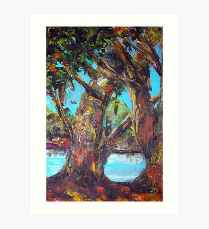 original oil painting  Art Print