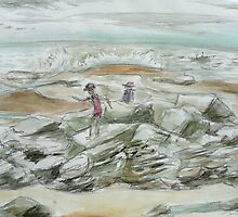 Holiday at Woody Head by maria paterson