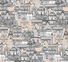 Paris toile sugar pink by Sharon Turner