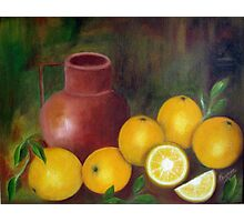 Still Life, Oil Painting Photographic Print