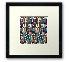 space and time white Framed Print