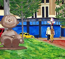 Charlie Brown in Rice Park by Stella Pinilla