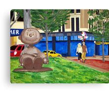 Charlie Brown in Rice Park Canvas Print