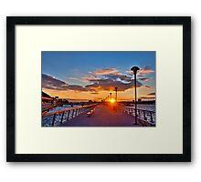 West Harlem Piers Sunset-HDR Framed Print