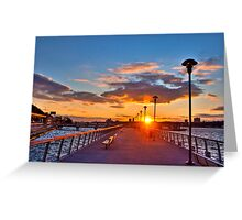 West Harlem Piers Sunset-HDR Greeting Card