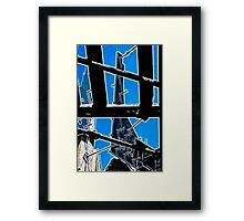 Girders Through Bridge - Glow Framed Print