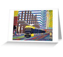 Light Rail in Downtown Minneapolis Greeting Card