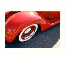 Deco Red Art Print