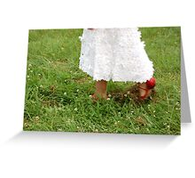 first steps Greeting Card