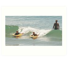 How to surf by Dad Art Print