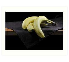 Three Bananas Art Print