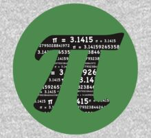 Green and Black Pi Kids Clothes