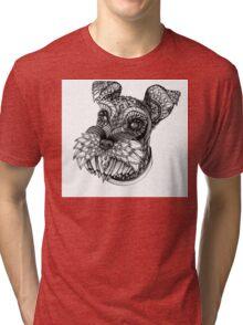 Ornate Schnauzer Tri-blend T-Shirt
