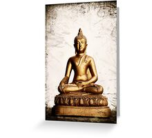 Sitting Buddha 2.0 Greeting Card