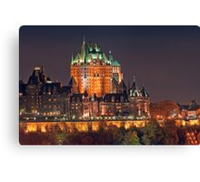 Night View of Le Chateau Frontenac (Version 2), Quebec City Canvas Print