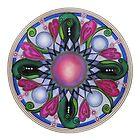 Mandala : Pink Heart  by danita clark