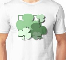 ST PATRICKS DAY CLOVERS Unisex T-Shirt
