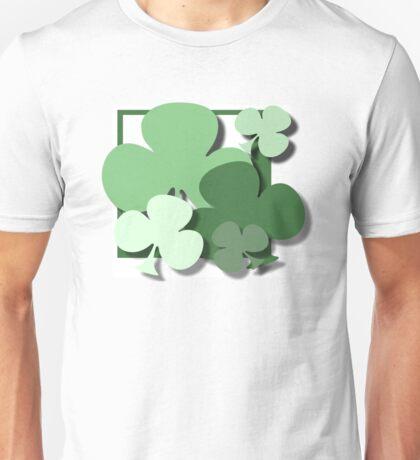 ST PATRICKS DAY CLOVERS Unisex T-Shirt