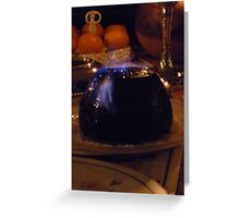 christmas pudding Greeting Card