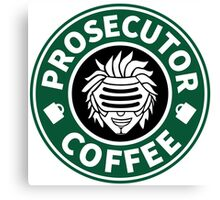 Prosecutor Coffee Canvas Print