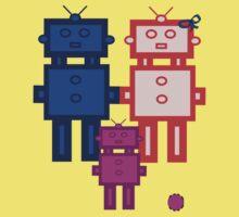 Retro robot family Kids Clothes